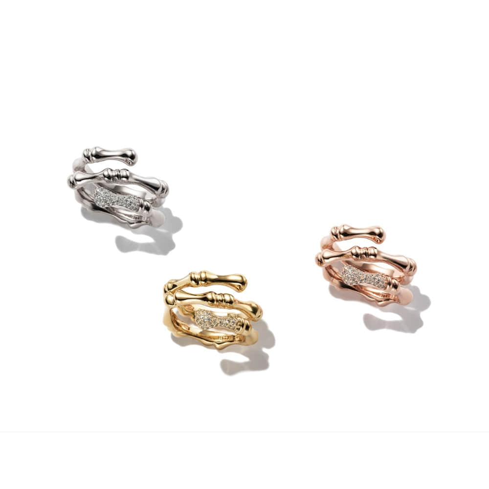 Three line Bamboo Ring